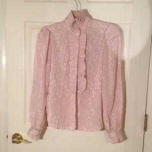 Gorgeous pink vintage blouse